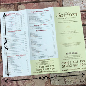 A3 folded leaflets printing in Luton Printers / Luton Print shop