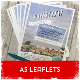 A5 flyers & leaflets printing in Luton Printers / Luton Print shop