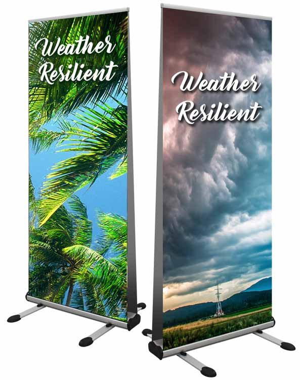Weather resilient roller banner printed in Luton