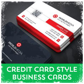 Credit Card Style Business Cards printing in Luton