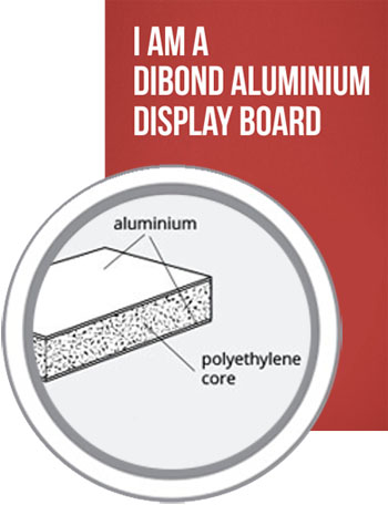 Dibond Aluminimum Display boards printing in Luton Printers / Luton Print shop