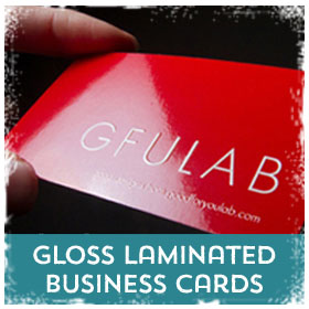 Gloss Laminated Business Cards printing in Luton