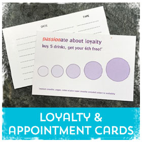 Loyalty & Appointment Cards printing in Luton