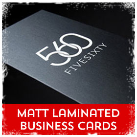 Matt Laminated Business Cards printing in Luton