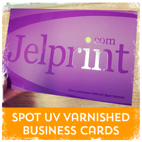 UV Spot Varnished Business Cards printing in Luton