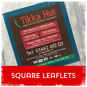 Square flyers & leaflets printing in Luton Printers / Luton Print shop