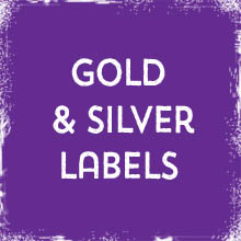 Gold & Silver Labels & Stickers printing in Luton Printers / Luton Print shop