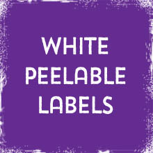 White Peelable Labels & Stickers printing in Luton Printers / Luton Print shop