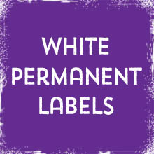 White Permanent Labels & Stickers printing in Luton Printers / Luton Print shop